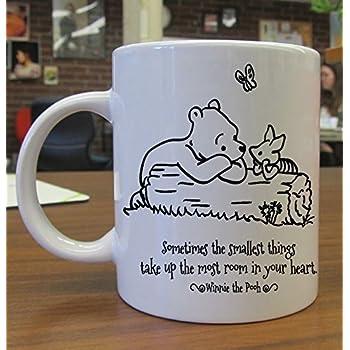 amazoncom winnie the pooh love quotes mug white mug 11oz