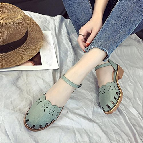 Summer Women Sandals, Wrapped Feet Sandals Point Toe Pumps Sexy Thin Air Heels Footwear Sandals - Heels Ladies Ankle Strap Buckle Shoes Flat Wedges Shoes Footwear Flip Flop Sandal Green