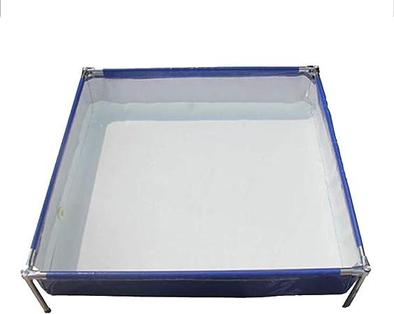 DGLIYJ Piscina Rectangular Desmontable de Acero Pro Splash Frame con Estructura de Acero, 80 x 100 x 42 cm, 550 litros, Azul: Amazon.es: Hogar