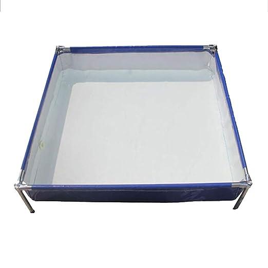 DGLIYJ Piscina Rectangular Desmontable de Acero Pro Splash Frame ...