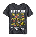"Tonka Toddler Boys Short Sleeve Construction Site ""Let's Build"" Collectible Shirt (3T)"