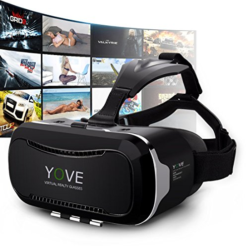 Vr Headsets Kaotoer 3D VR Glasses Movie Visor 3D Vr Virtual Reality Glasses Innovative Design Fit for iOS and Android Smartphones within 3.5-6 Inches
