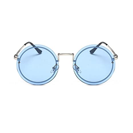 BiuTeFang Gafas de Sol Mujer Hombre Polarizadas Moda Ronda ...