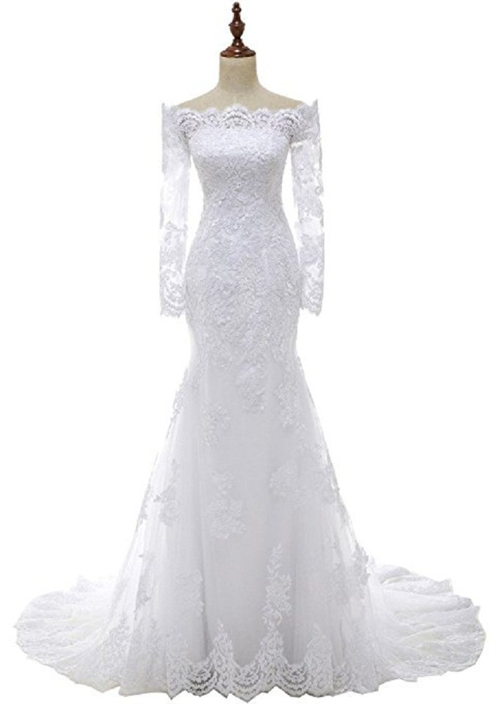 Women's Mermaid/Trumpet Bride Wedding Dress Formal Wedding Gown Floor Length,2