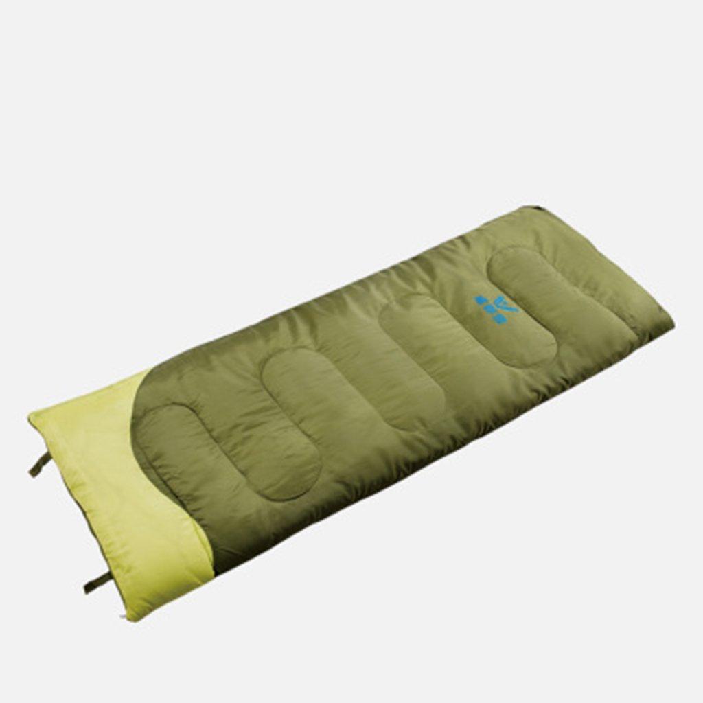 vert  Sac de couchage adulte extérieur chaud unique voyage camping enveloppe sac de couchage étanche intérieur partition couette