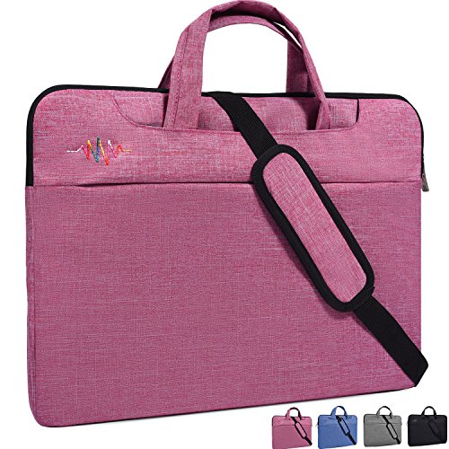 14-15.4 Inch Laptop Sleeve Case Cover Bag with Hidden Handle and Adjustable Shoulder Strap Fit Acer Chromebook 14, HP Stream 14