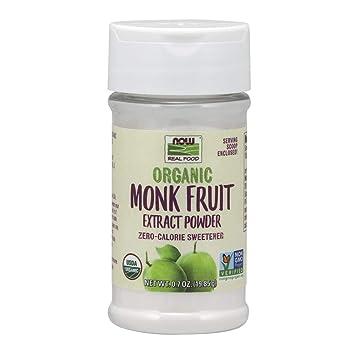 NOW Foods, Organic Monk Fruit Extract Powder, 0 7 oz