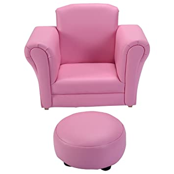 Costzon Kids Chair And Ottoman Set With Rocking Function (pink)