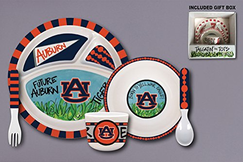 (Magnolia Lane Tailgatin' For Tots Melamine Set (Auburn Tigers))