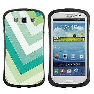 Suave TPU GEL Carcasa Funda Silicona Blando Estuche Caso de protección (para) Samsung Galaxy S3 I9300 / CECELL Phone case / / Pastel Green Colors Teal White /