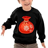 Christmas Gift Bag Funny Logo DIY Personalized Pattern Casual O-Neck Long Sleeve T-Shirt Toddlers Sweatshirts 4 Toddler Black