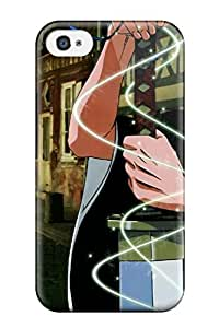 For Iphone 4/4s Tpu Phone Case Cover(bleach)