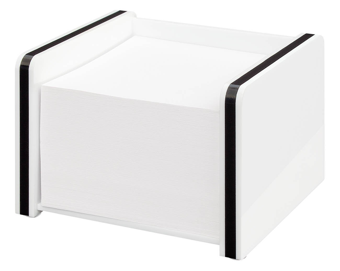 Wedo Montego 0601400 Business Card Holder Acrylic with Steel Ball//White and Black