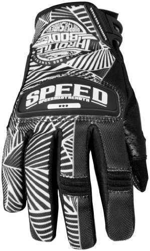 Speed and Strength Womens Throttle Body Leather Mesh Gloves 2013 Black White M/Medium (Throttle Body Womens Strength)