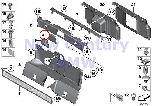 Center Bulkhead (BMW Genuine Trim Panel Bulkhead Covering Center Z4 28i Z4 30i Z4 35i Z4 35is)