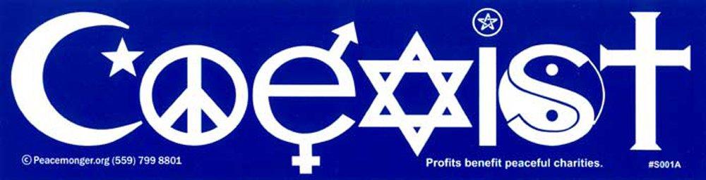 Amazon com: Peace Project: Coexist - Bumper Sticker: Toys & Games