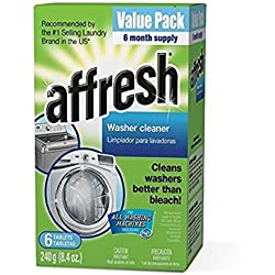 Affresh W10501250 Washer Machine Cleaner , Safe on septic tanks 6-Tablets, 8.4 oz