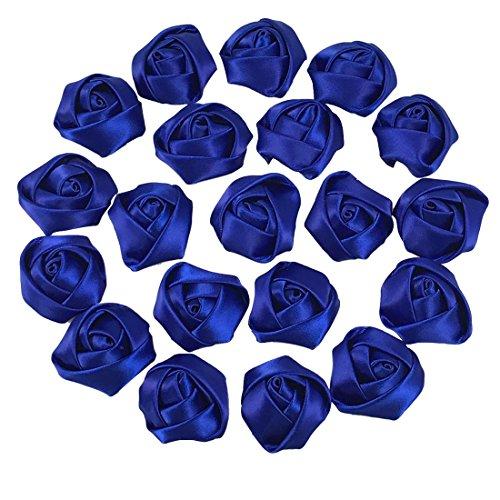 YAKA 30pcs Handmade stereo Fabric Rose Flowers for DIY Headdress Flowers Headbands Clips ,Rose Wedding Decor Hair Bow Appliques Craft Sewing Accessori…