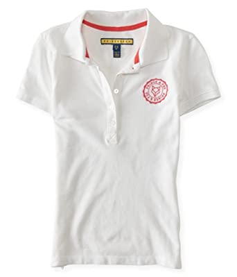 5c9c1ec37 Aeropostale Womens Chest Logo Polo Shirt at Amazon Women's Clothing ...