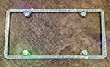 2 Row License Plate Frame made with Swarovski Crystals - Car Jewelry