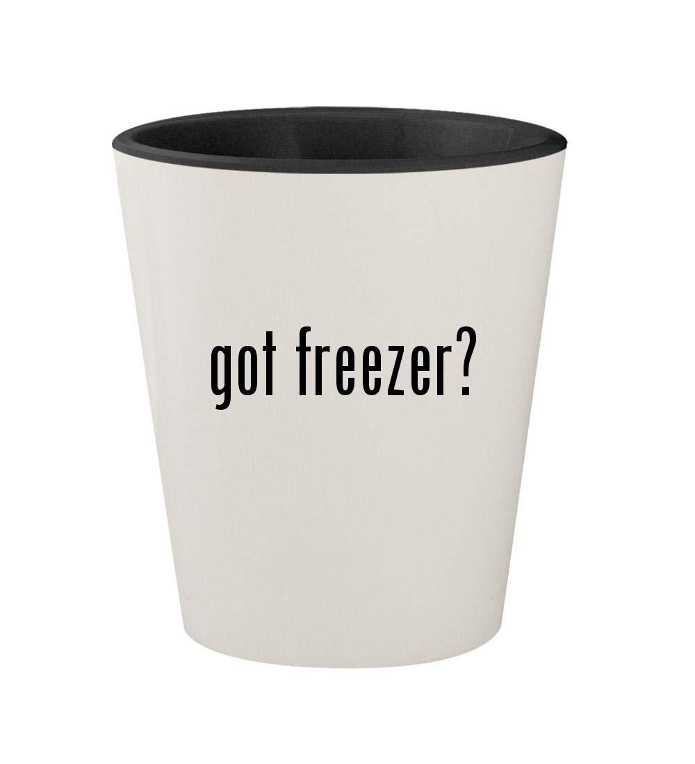 got freezer? - Ceramic White Outer & Black Inner 1.5oz Shot Glass