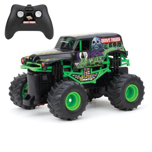 New Bright F/F 4x4 Monster Jam Mini Grave Digger RC Car (1:43 Scale) (Digger With Remote Control)