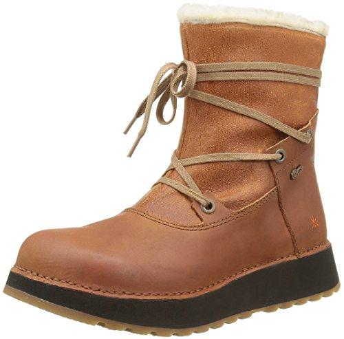 Heathrow Art Women's Snow Ankle Cuero 1024 Boots Marron frrwxd
