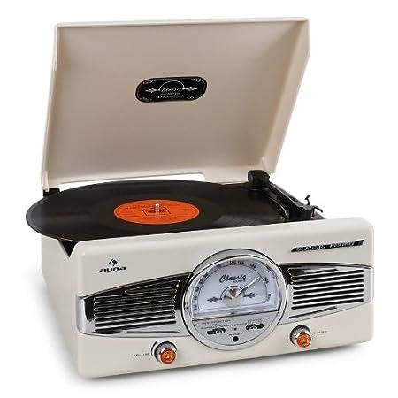 auna MG TT C Tocadiscos retro  RPM lector de vinilos con