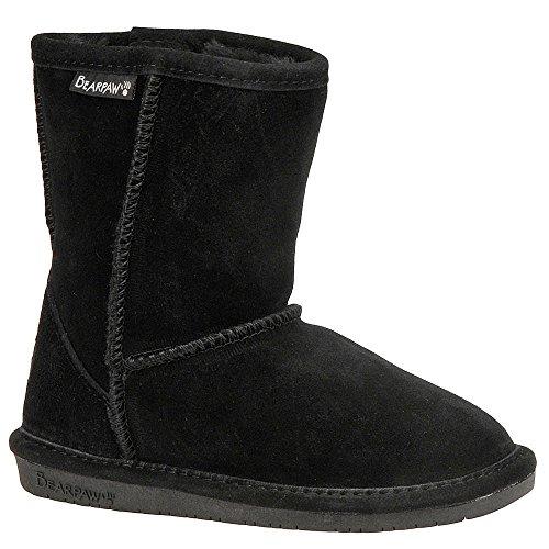 BEARPAW Emma Youth Slipper Black II Size 5 M US Big Kid (Footwear Youth Black)