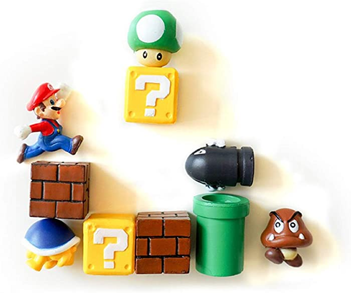 Cute Cartoon Figure Magnets Bricks, mushrooms, tortoises, water pipes Home Decoration Creative Refrigerator Magnets