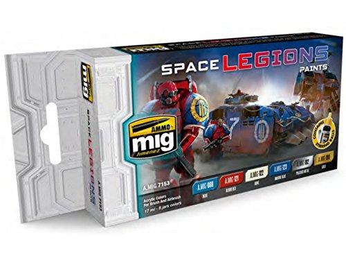 AMMO MIG-7153 Space Legions Color Acrylic Paint Set, Multicolour