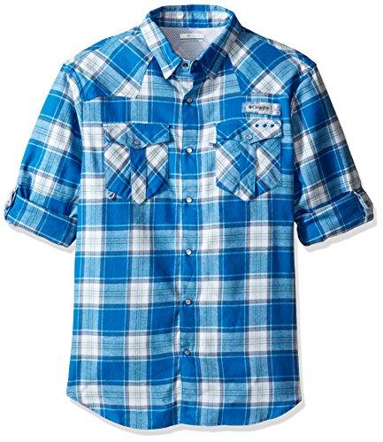 Columbia Sportswear Mens Beadhead Flannel Long Sleeve Shirt, Windswept Plaid, Medium