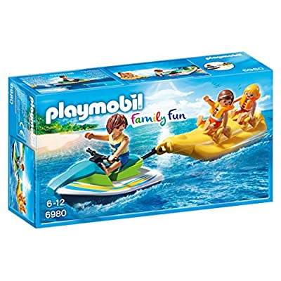 Playmobil 6980 Family Fun Floating Personal Watercraft with Banana Boat: Toys & Games