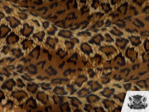 Velboa Faux / Fake Fur Jaguar BROWN BLACK Fabric By the Yard (Jaguar Fur Blanket)