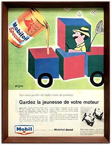 サヴィニャック モービル 1959年 フランス ビンテージ 雑誌 広告 ポスター 額付 アートフレーム
