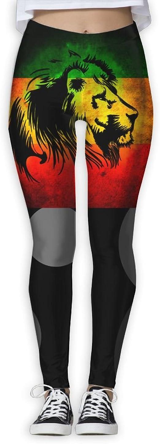 LINGMEI Rasta Lion Womens Yoga Pants Capri Leggings Skinny Pants For Yoga Running Pilates Gym S-XL