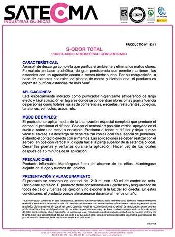 SATECMA Ambientador Menta hierbabuena Concentrado de Descarga ...