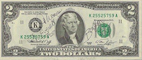 Thomas Everett Signed 1976 $2 Dollar Bill Steelers Baylor Cowboys Bucs - NFL Autographed Miscellaneous Items - Cowboys Autographed Items