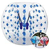 Inflatable Bumper Bubble Soccer Ball, Giant Human Hamster Ball Knocker Ball for Adults & Teens, Body Bumper Dia 4ft/5 ft(1.2m/1.5m) with Repair kit[US Stock] (Blue(1.5M))