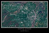 Terra Prints Saint Louis Missouri Satellite Poster Map L 24 x 36 inch