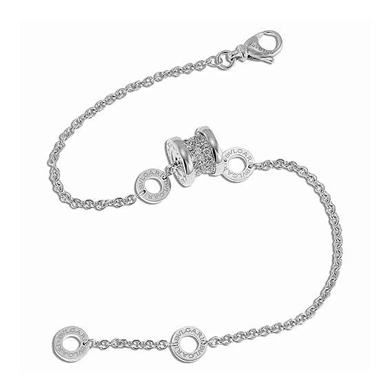 2671bd1e39518 Bulgari B.Zero1 18K White Gold Diamond Bracelet 350898: Amazon.ca: Watches