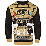 Forever Collectibles NFL New Orleans Saints Ugly 3D Sweater, Large