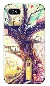 Surelock iPhone 5C House on a tree - black plastic case, hot girl, girls