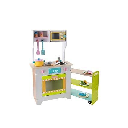 TLMYDD Cocina De Madera Estufa De Cocina Juguetes para Niños Casa Simulación Utensilios De Cocina Combinación