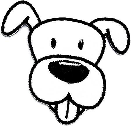 Tete De Chien Blanc Dessin Anime Enfants Patch Main Brodee