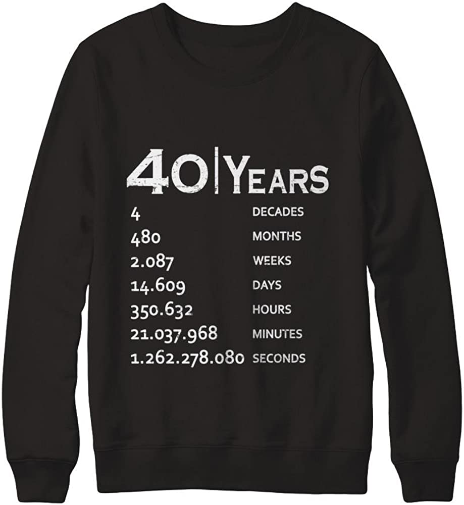 Pullover Sweatshirt Teely Shop Men/'s Womans 1977 40th birthday Birthday Gildan