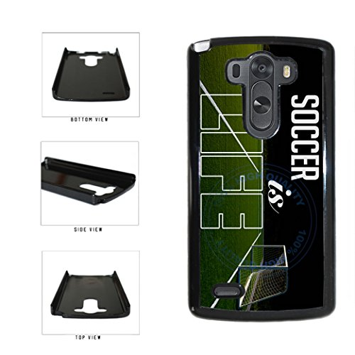BleuReign(TM) Soccer Is Life Plastic Phone Case Back Cover For LG G3