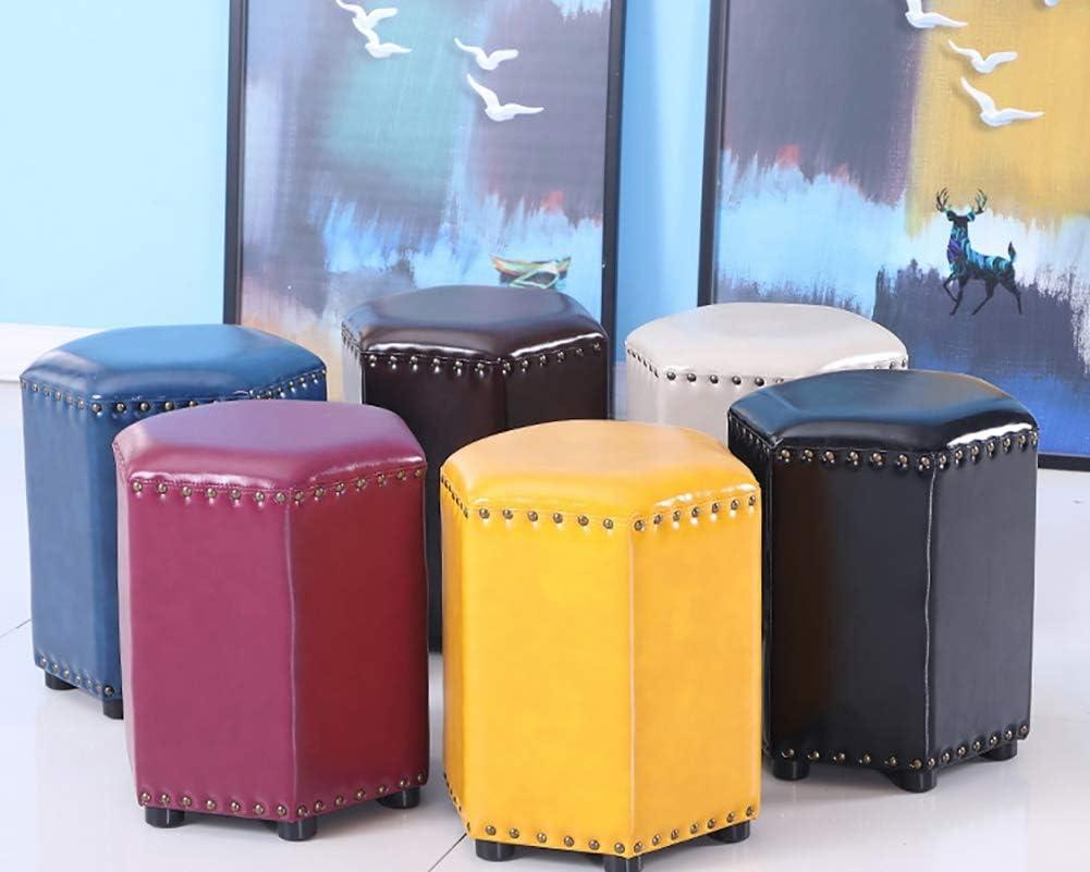 Moderne Fußstütze Hocker & Ottomane, PU-Leder Stoff Sofa kleine Bank, ideal für Wohnzimmer, Schlafzimmer und Kinderzimmer - kleine Möbel, Lager 100 kg (Color : Black) Gray