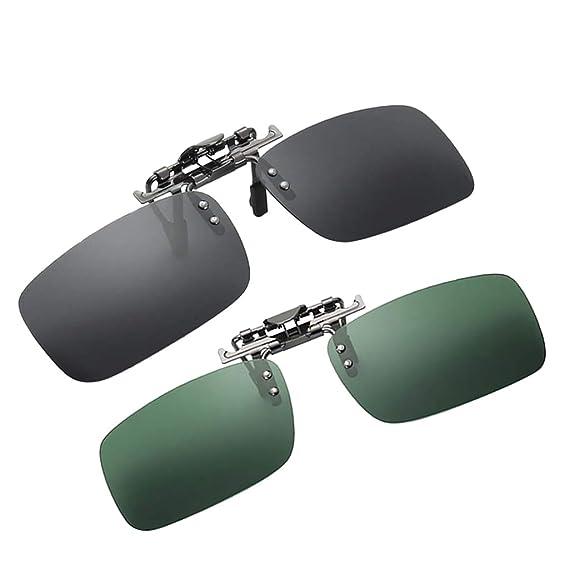 F Fityle 2 Pedazos Gafas de Sol con Clip Lentes Polarizadas ...