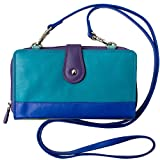 ili Leather Smartphone Crossbody Wallet with RFB (Cool Tropics)